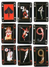 "Vintage Sobranie advertising art deco playing cards by  ""Erte"","